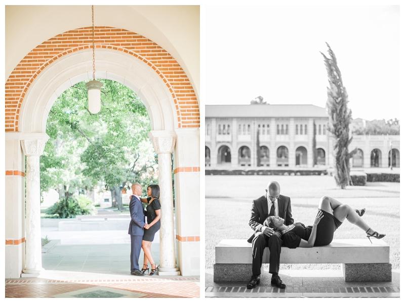 maisha and johnny rice university engagement session by sharon nicole photography