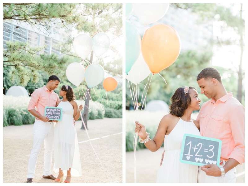 peach and mint maternity session by houston photographer sharon nicole photography